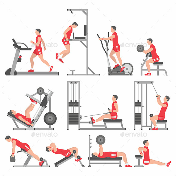 Boys in the Gym - Sports/Activity Conceptual