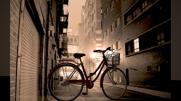 Bicycle With Basket  - 3DOcean Item for Sale