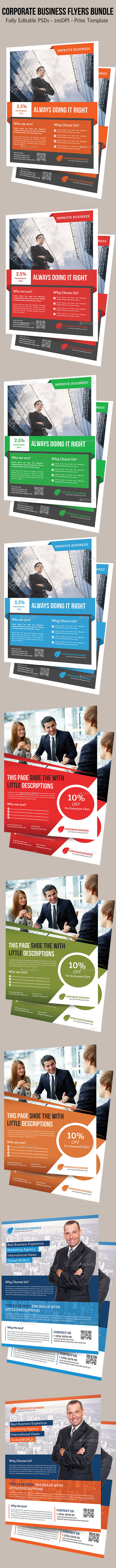 Corporate Business Flyers Bundle - Flyers Print Templates