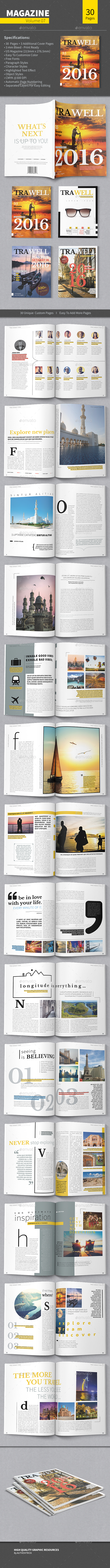 Magazine Template - Volume 07 - Magazines Print Templates