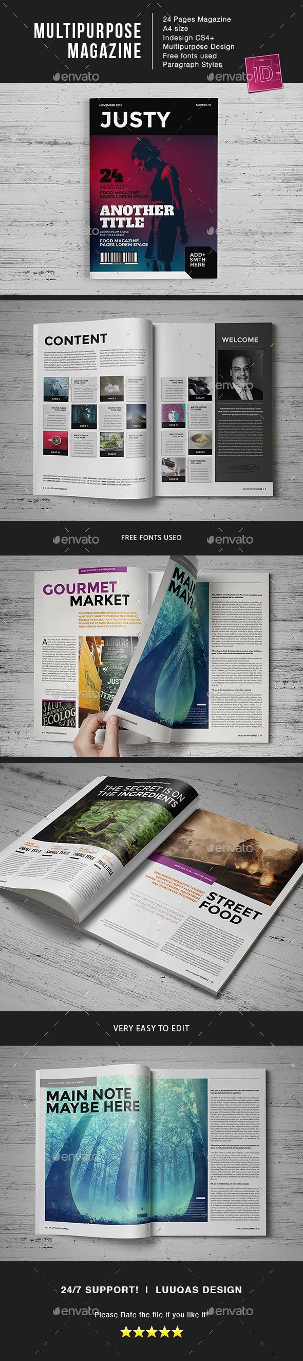 Multipurpose MGZ - Magazines Print Templates