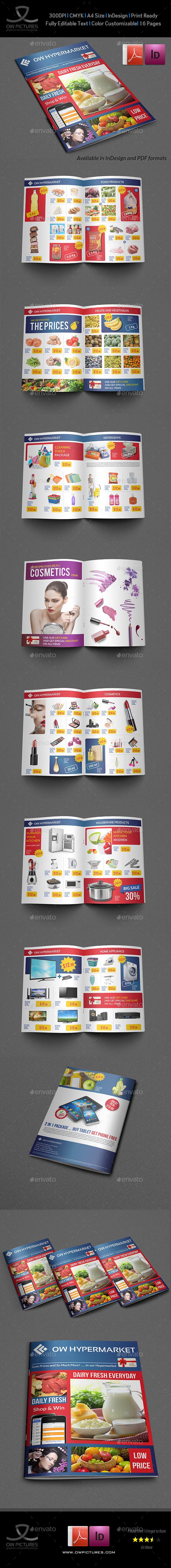 Supermarket Products Catalog Brochure Template Vol2 - Catalogs Brochures