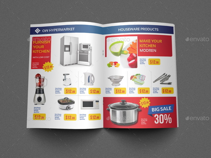 Supermarket Products Catalog Brochure Template Vol2 By Owpictures