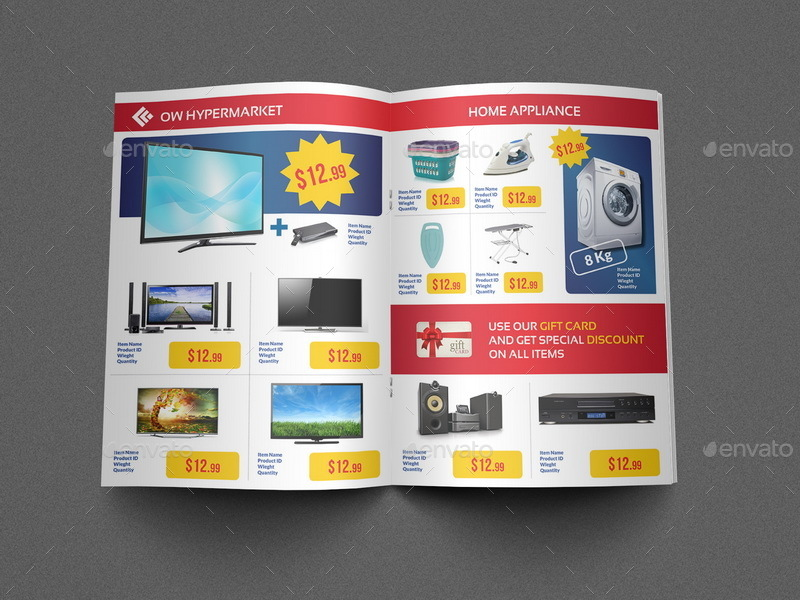 Supermarket Products Catalog Brochure Template Vol By Owpictures