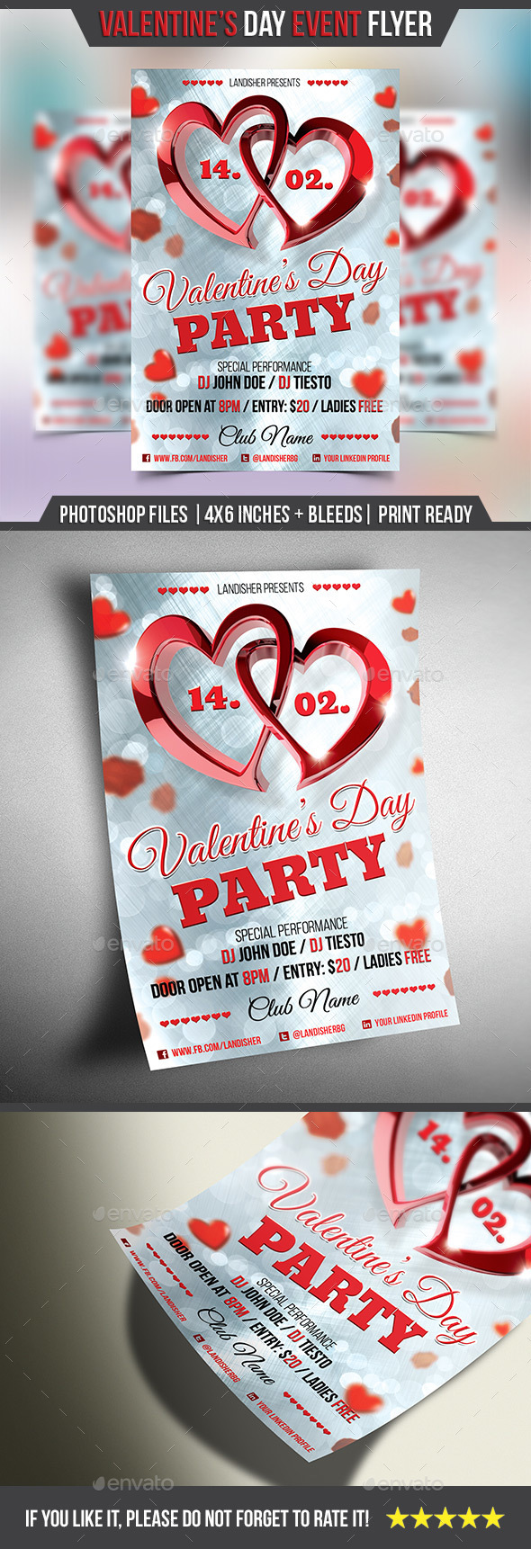 Valentines Day Flyer Template - Clubs & Parties Events