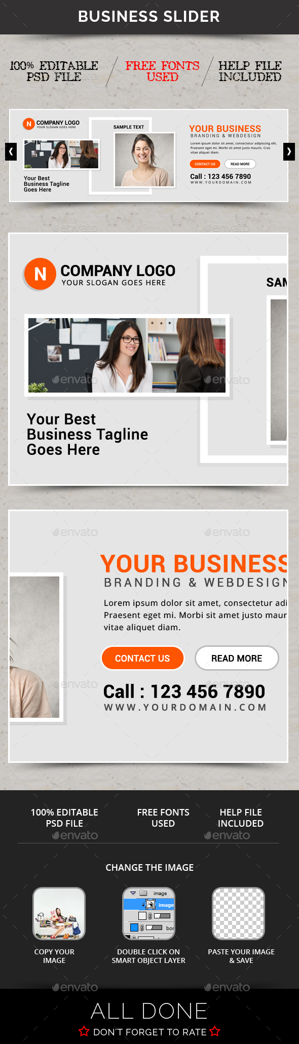 Business Slider V54 - Sliders & Features Web Elements