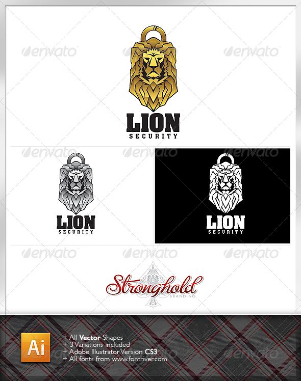 Lion Security logo - Animals Logo Templates