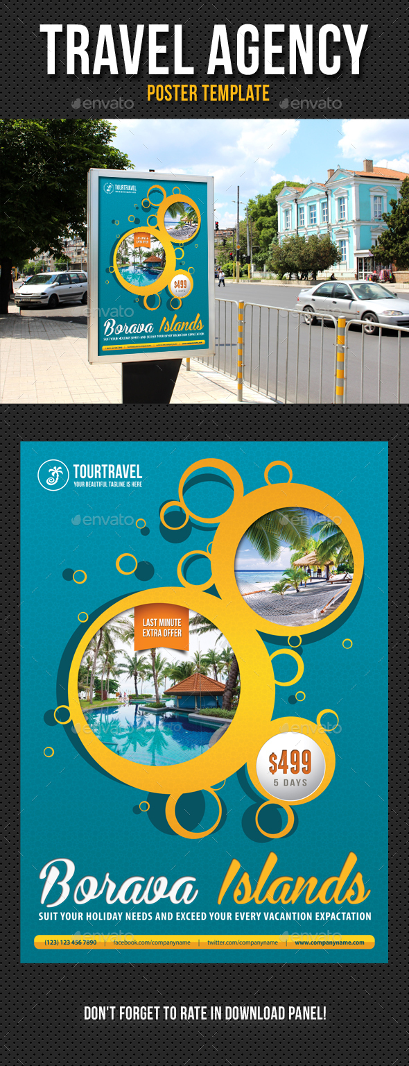Travel Agency Poster Template V05 - Signage Print Templates