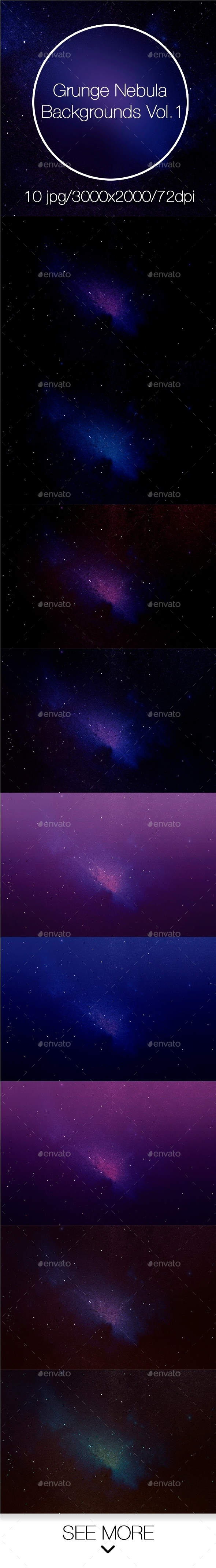 Grunge Nebula Backgrounds Vol.1 - Abstract Backgrounds