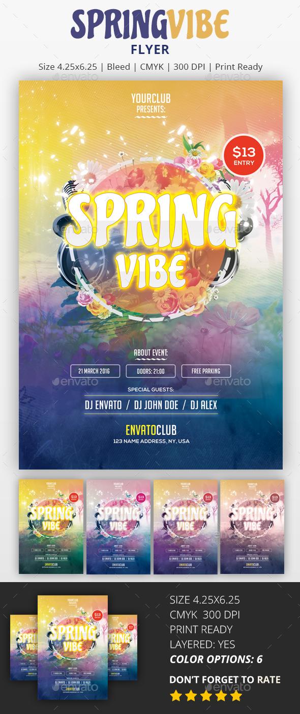 Spring Vibe - PSD Flyer - Flyers Print Templates
