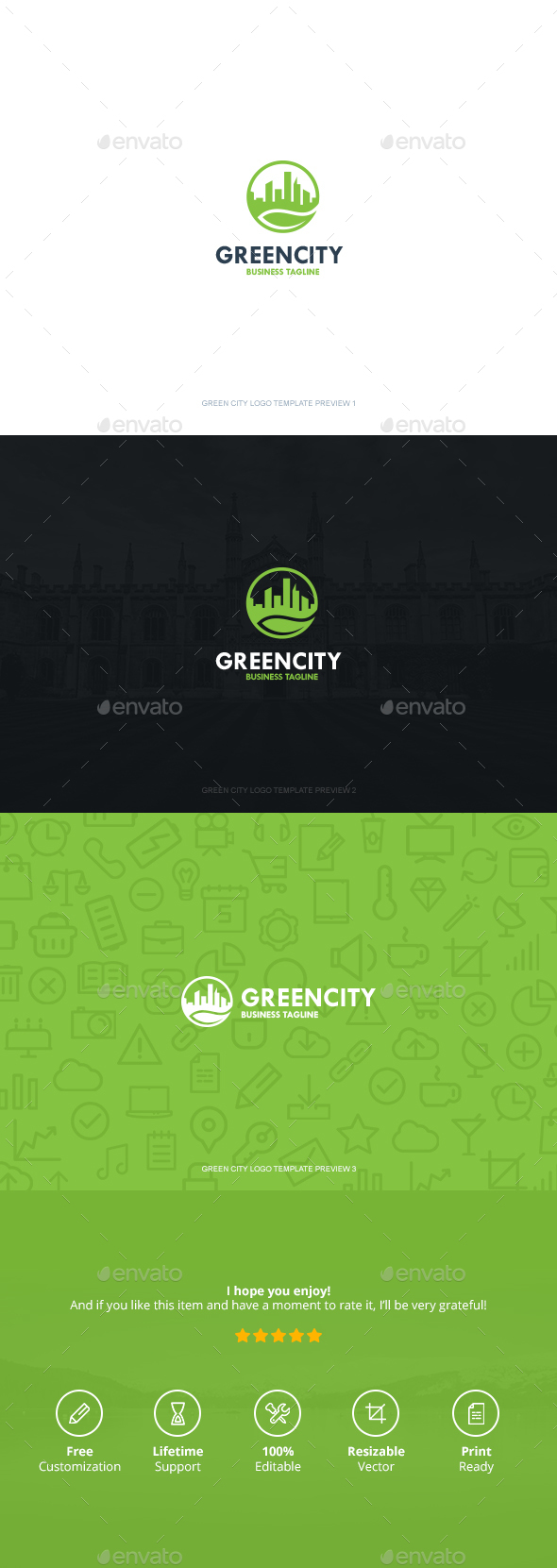 Green City Logo - Symbols Logo Templates
