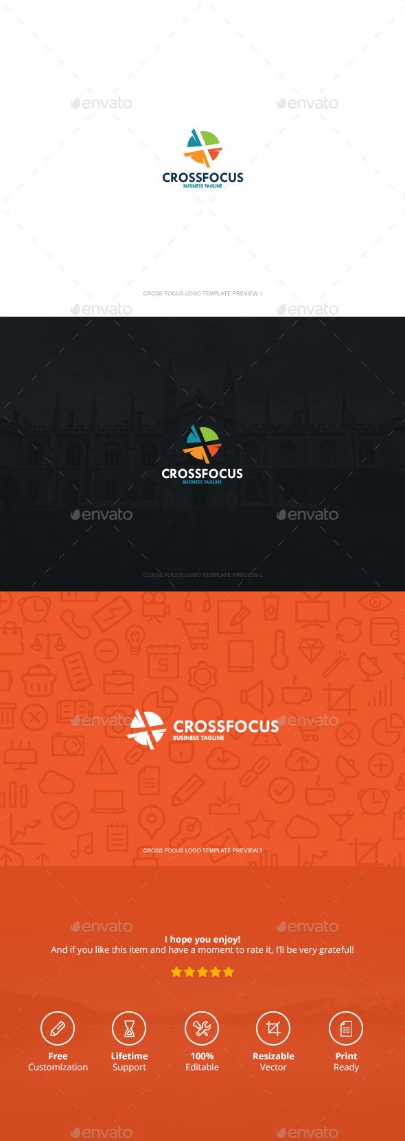 Cross Focus Logo - Symbols Logo Templates