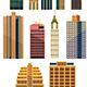 City Buildings Set - GraphicRiver Item for Sale