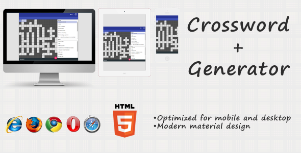 Crossword + Generator - CodeCanyon Item for Sale