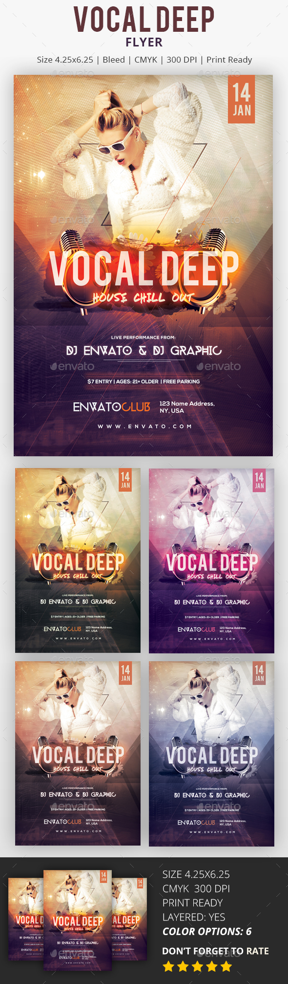 Vocal Deep - PSD Flyer - Flyers Print Templates
