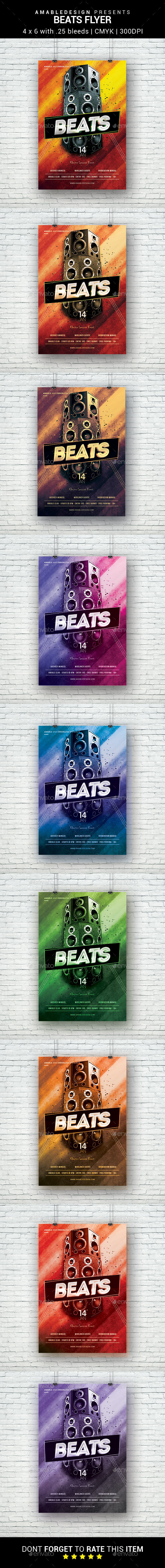 Beats Flyer - Clubs & Parties Events