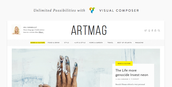 Artmag – Clean WordPress Blog & Magazine Theme
