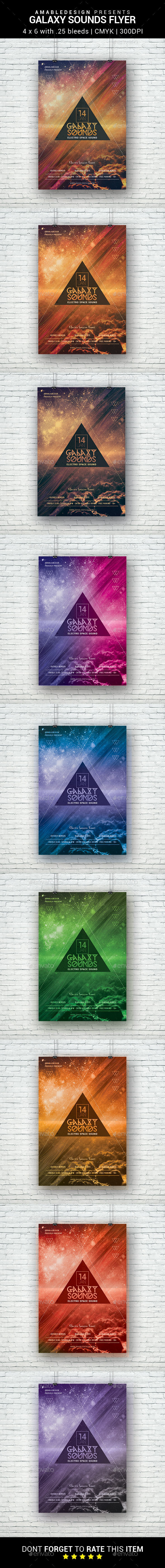 Galaxy Sounds Flyer - Clubs & Parties Events