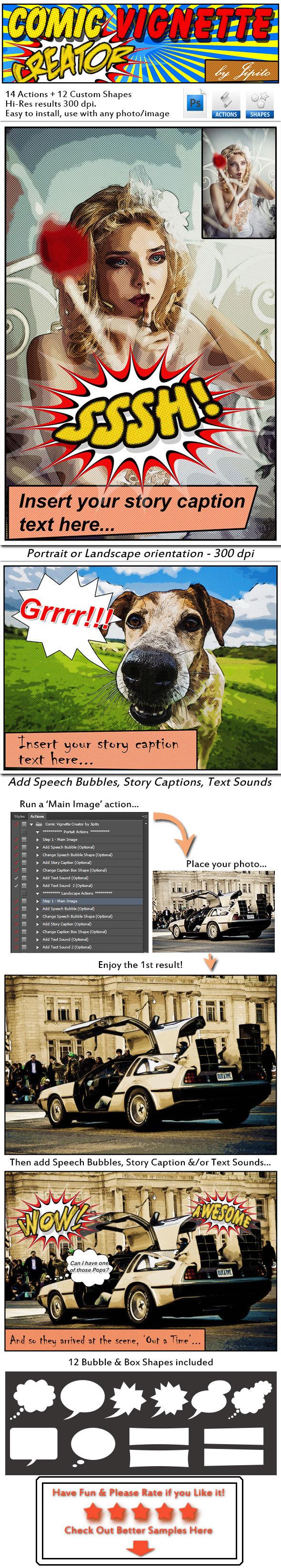 Complete Comic Vignette Creator - Photo Effects Actions