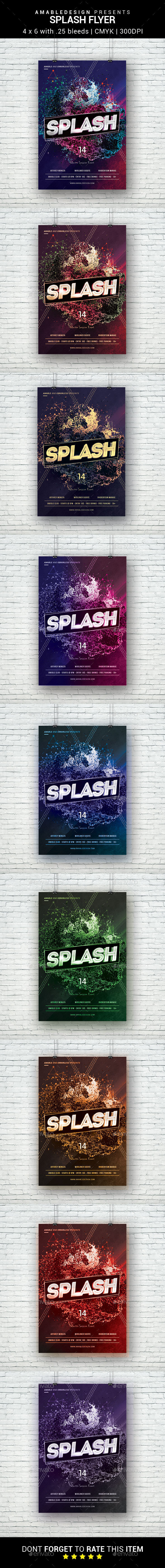 Splash Flyer - Clubs & Parties Events