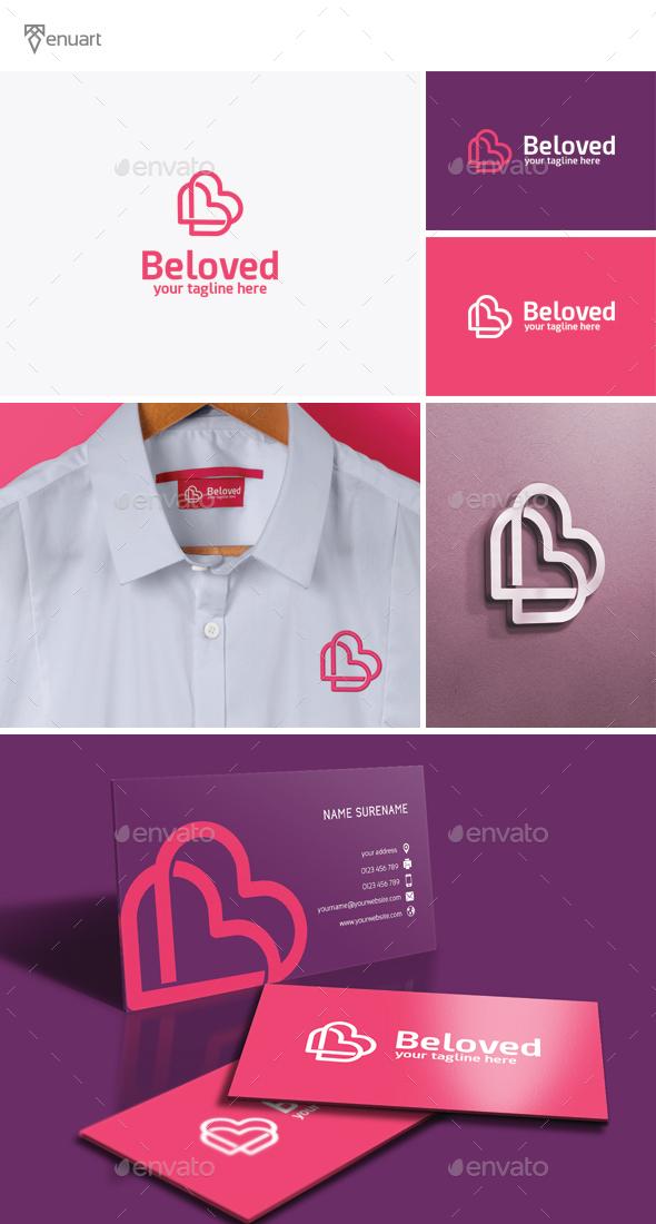 Beloved - Letter B Logo - Letters Logo Templates