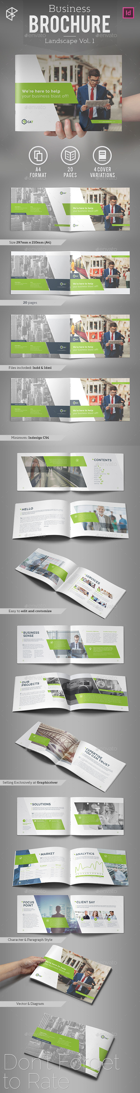 Business Brochure - Landscape Vol. 1 - Corporate Brochures