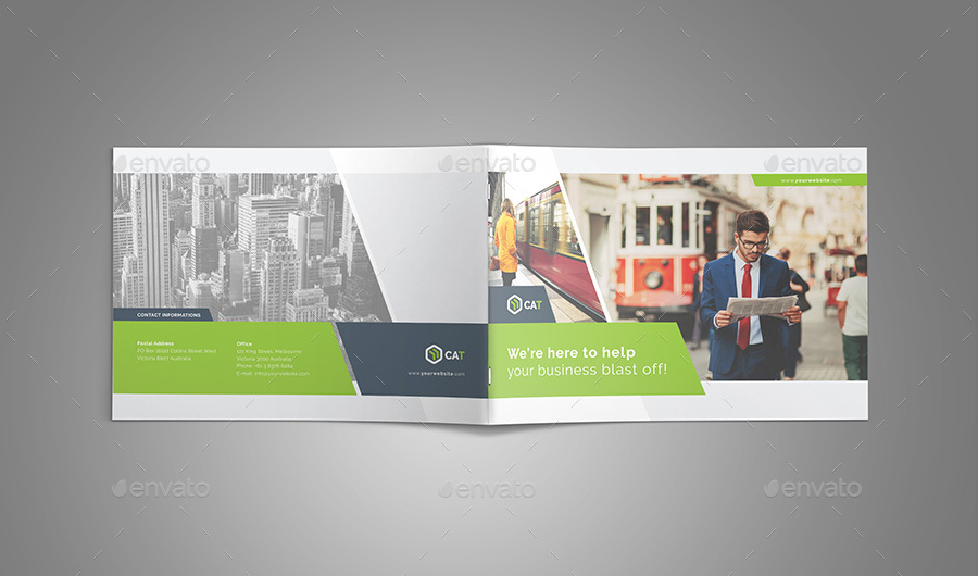 Business Brochure - Landscape Vol. 1 By Fathurfateh | Graphicriver