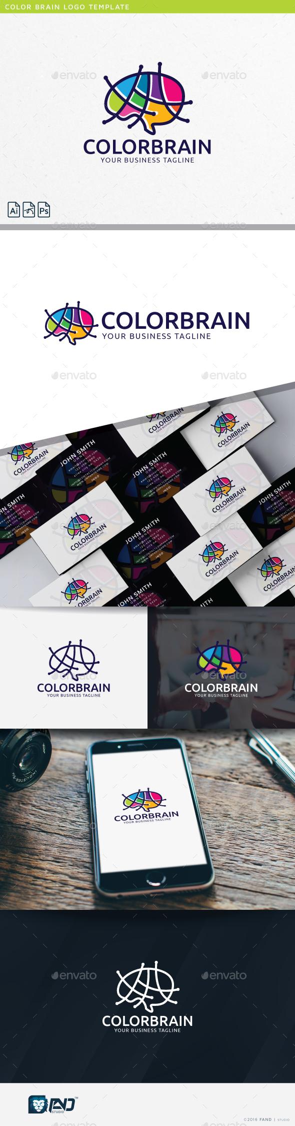 Color Brain - Humans Logo Templates