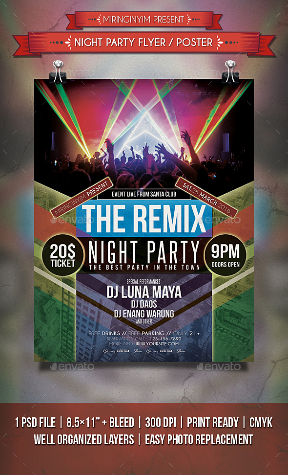 Night Party Flyer / Poster - Events Flyers