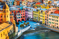 Vernazza village, church and buildings aerial view. Cinque Terre - PhotoDune Item for Sale