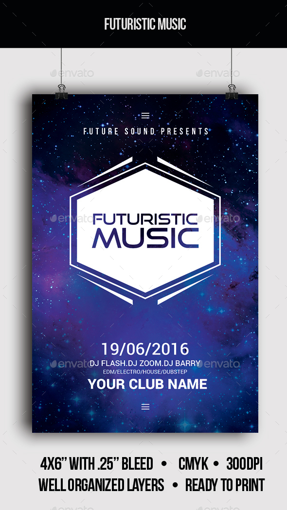 Futuristic Music - Flyer - Clubs & Parties Events