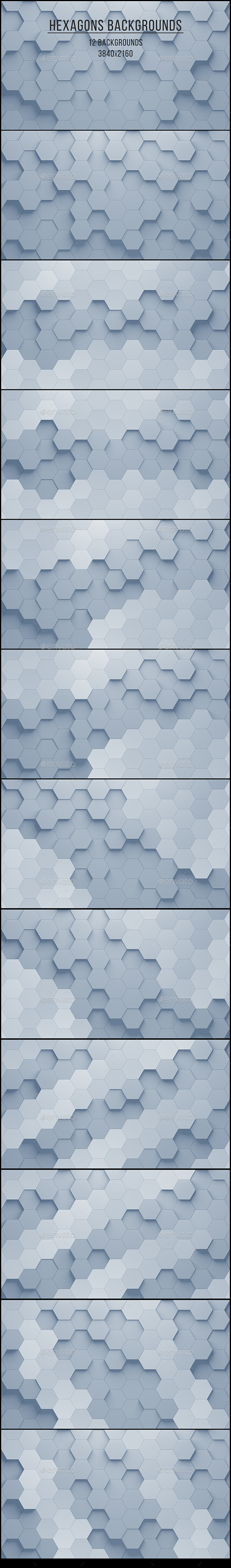 Hexagons Backgrounds - Abstract Backgrounds