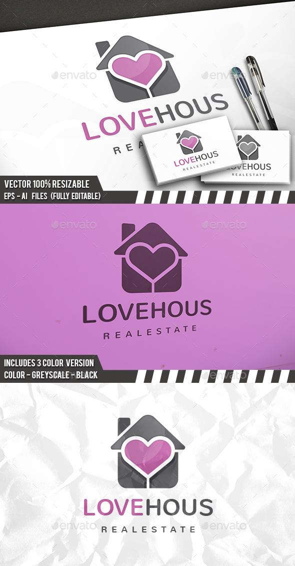 Heart House Logo - Buildings Logo Templates