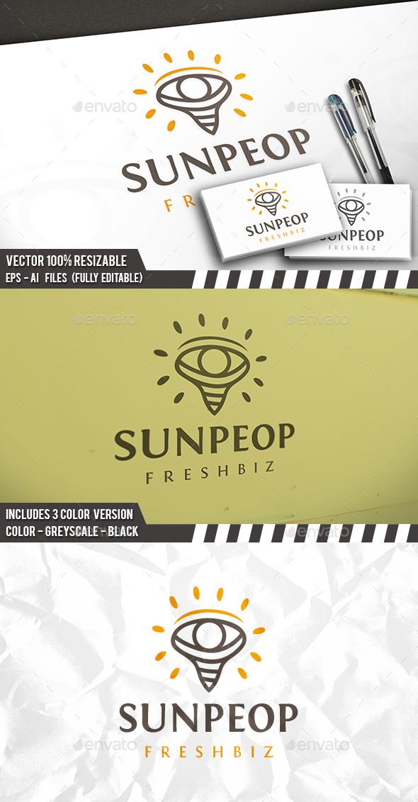Sun People Logo - Humans Logo Templates
