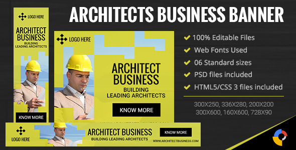 GWD | Architects Business Banner - 6 Sizes - CodeCanyon Item for Sale