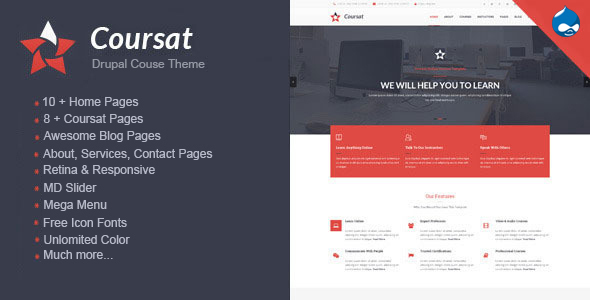 Coursat - Multipurpose Education Drupal Theme