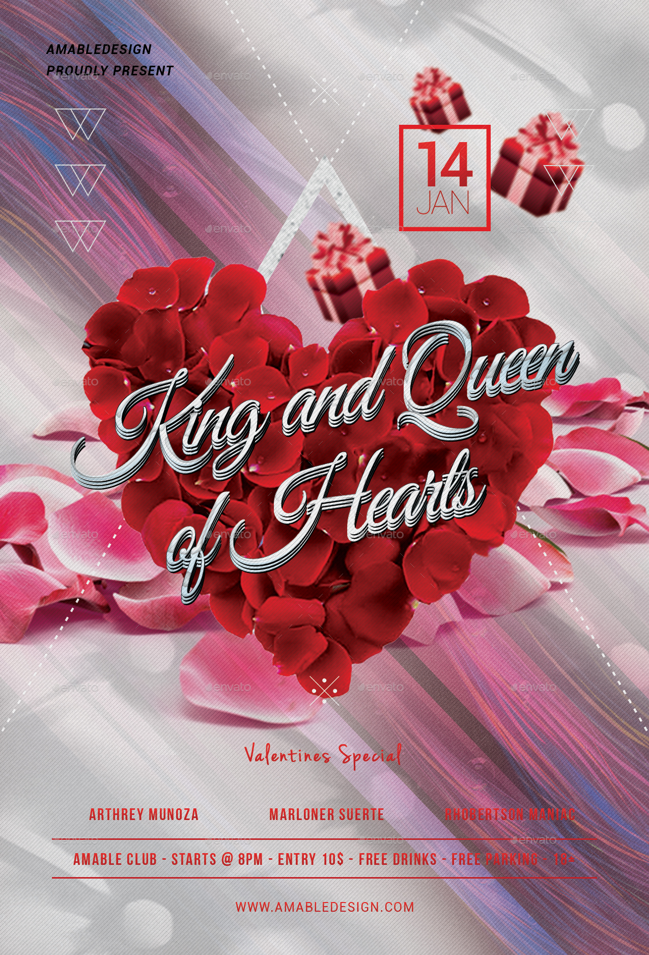 King And Queen Of Hearts Flyer By Amabledesign Graphicriver