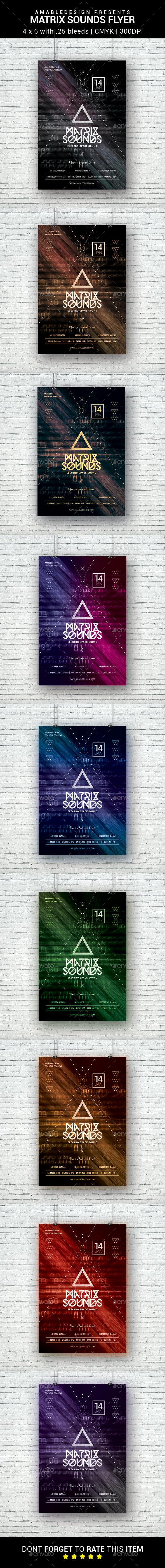 Matrix Sounds Flyer - Clubs & Parties Events