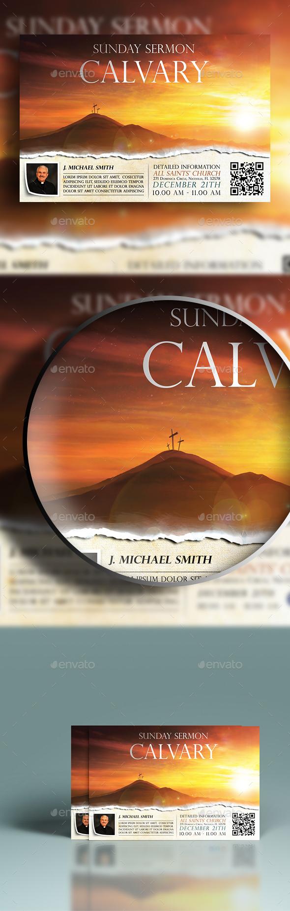 Calvary Church Flyer - Church Flyers