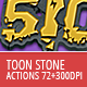 Toon Stone Actions - GraphicRiver Item for Sale