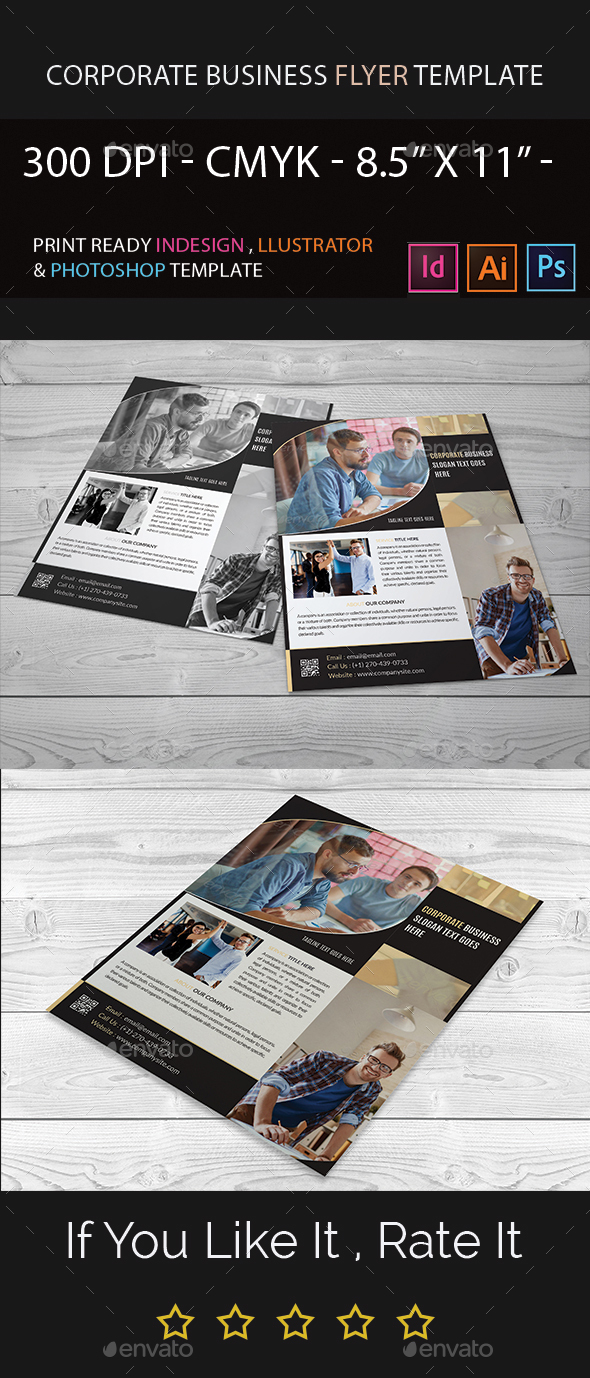 Corporate Business Flyer Template I Indesign I Illustrator I Photoshop - Corporate Flyers