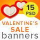 Valentine's Sale Banners - GraphicRiver Item for Sale