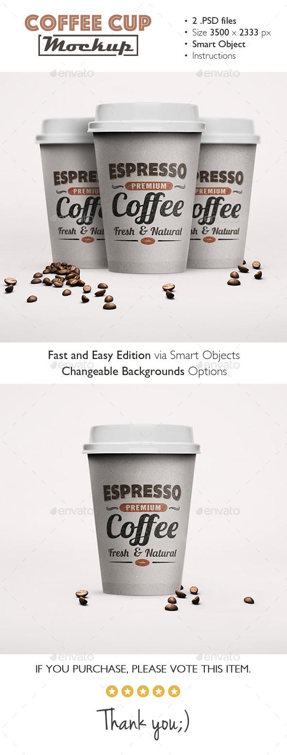 Coffee Cup Mockup - Product Mock-Ups Graphics