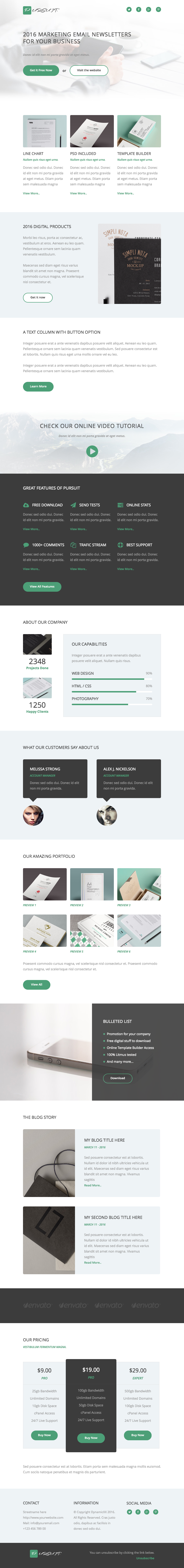 Market Responsive Newsletter With Template Builder Image collections ...