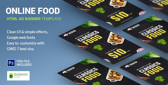 Fast Food | HTML5 Google Banner Ad 03 - CodeCanyon Item for Sale