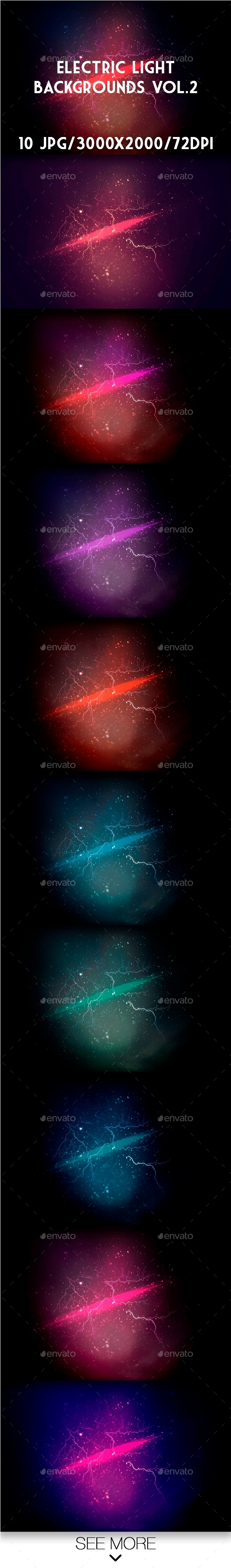 Electric Light Backgrounds Vol.2 - Backgrounds Graphics