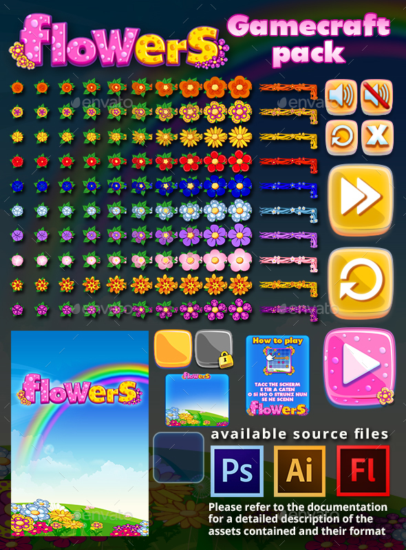 Flowers Game Assets - Game Assets