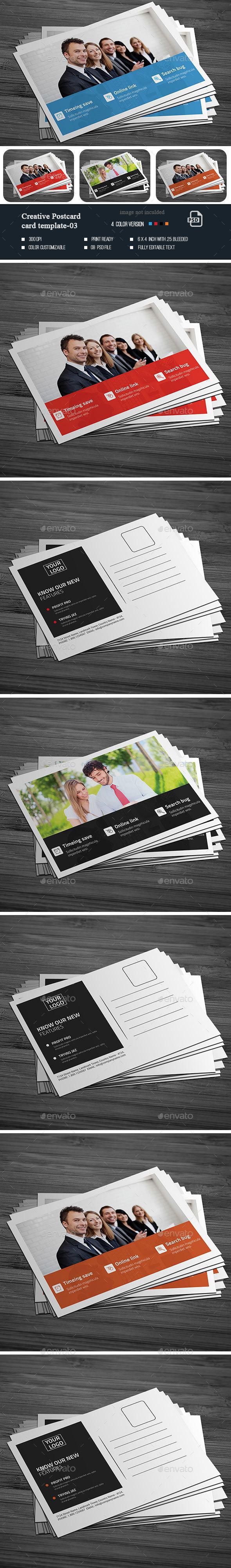 Creative Post Card -03 - Cards & Invites Print Templates