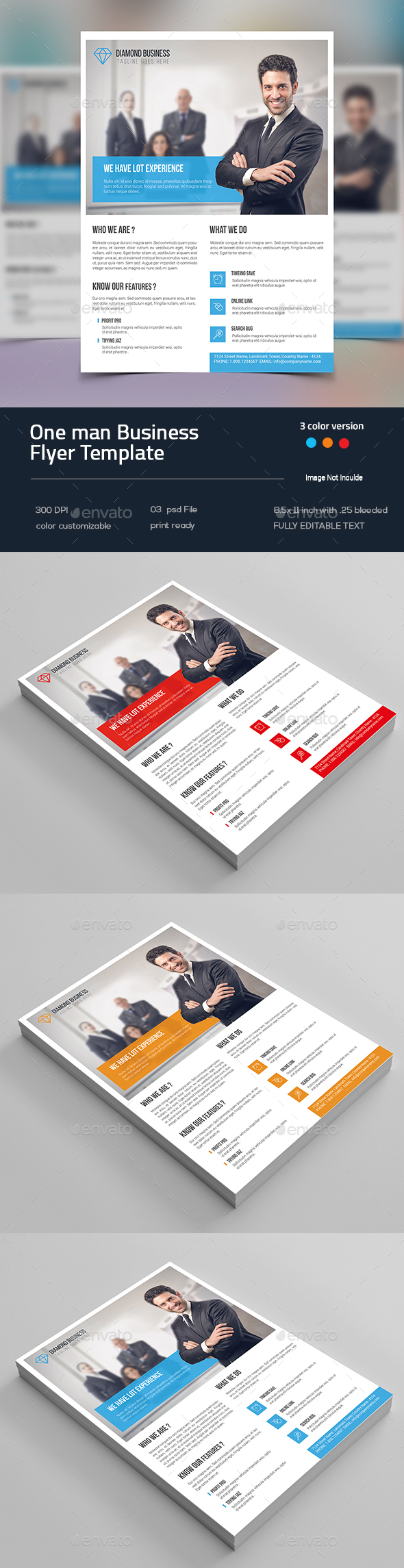 One man Business Flyer - Flyers Print Templates