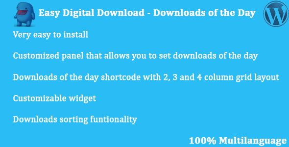 Easy Digital Downloads - Downloads of the Day Bset Scripts